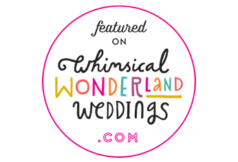 Featured on whimsicalwonderlandweddings.com